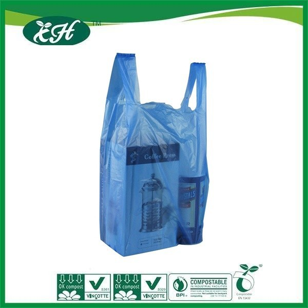 wholesale recyclable logo printed hdpe cheap t-shirt plastic bag