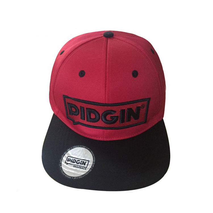 Acrylic customize flat brim 6 panel hat snapback <strong>cap</strong> with 3D embroidery