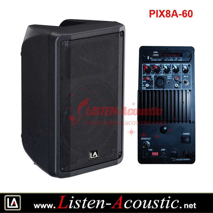 8 inch Lightweight Active Yamaha DBR series Speaker Box with Analog Amplifier Panel PIX8A-60