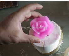 YD-09 Factory direct price DIY rose candle mold / silicone rose shape soap mold for candle making