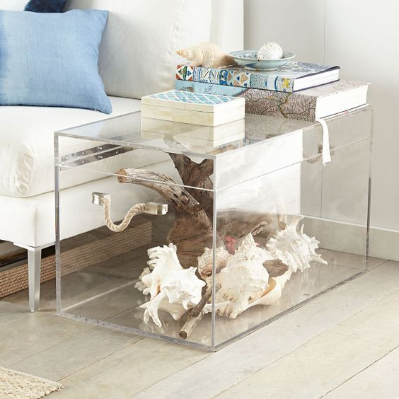 Acrylic Furniture display/acrylic box/acrylic trunk coffee table