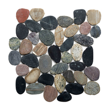 HS-Y07 bright color paving stone cobble landscaping colored crushed stone