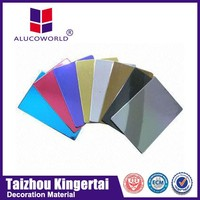 Alucoworld large assortment pe/pvdf coated acp cost of plastic recycling machine acm sheet