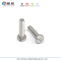 molybdenum pan head slotted screw for instrument