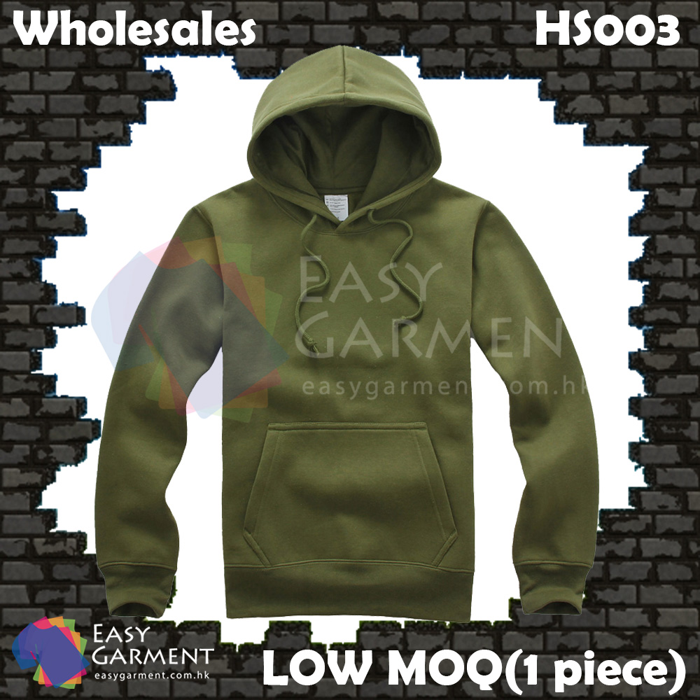 Wholesales Low MOQ HS003 500G Military Green Fleece Pullover Sweater Hoodies