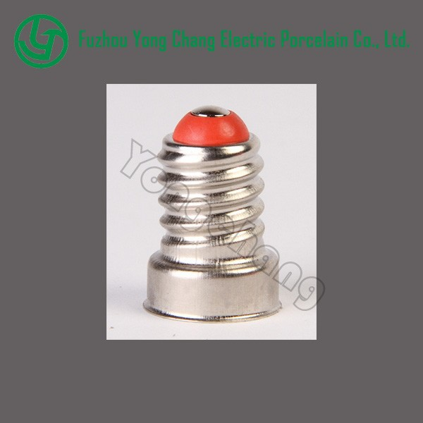 Nickel brass welding free lamp base E14 socket screw cap