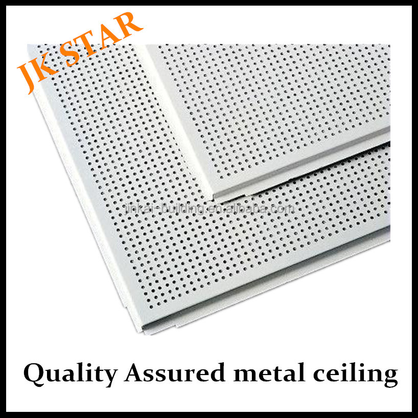Humidity fire resistant Soundproof metal ceiling Aluminum lay-in plain or perforated tiles