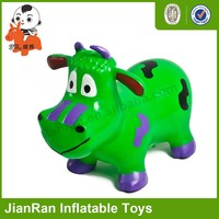 PVC inflatable Toy Animal,Bouncy animal,Jumping Hippo with music