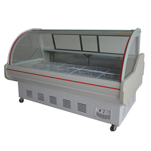 Refrigerated Display Counters Meat Fish Display Cooler For Vegetable Market
