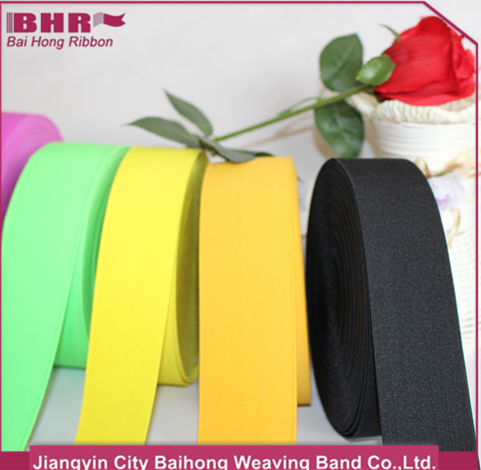 40mm wide polyester stripe elastic band for belt