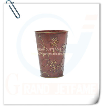 Homeware christmas decor metal red roses flower pot buy for Homewares decorative items