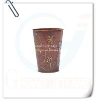 homeware decor metal red roses flower pot