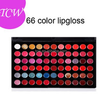 New High Quality professional 66 Colors Lip Gloss Palette Makeup Kit Sets