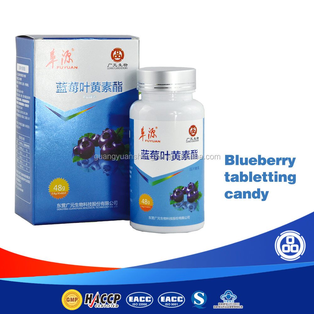 Factory direct blueberry tablet/capsule supplement food for eye