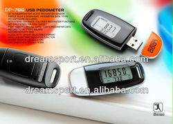3D pedometer with USB calorie counter fitness equipment