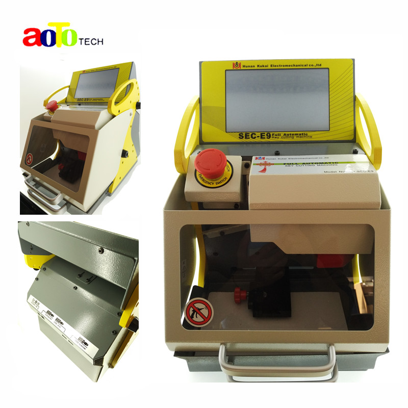 2016 Best price original Best automatic key cutting machine SEC-E9 portable smart duplicate car key cutting machine SEC E9