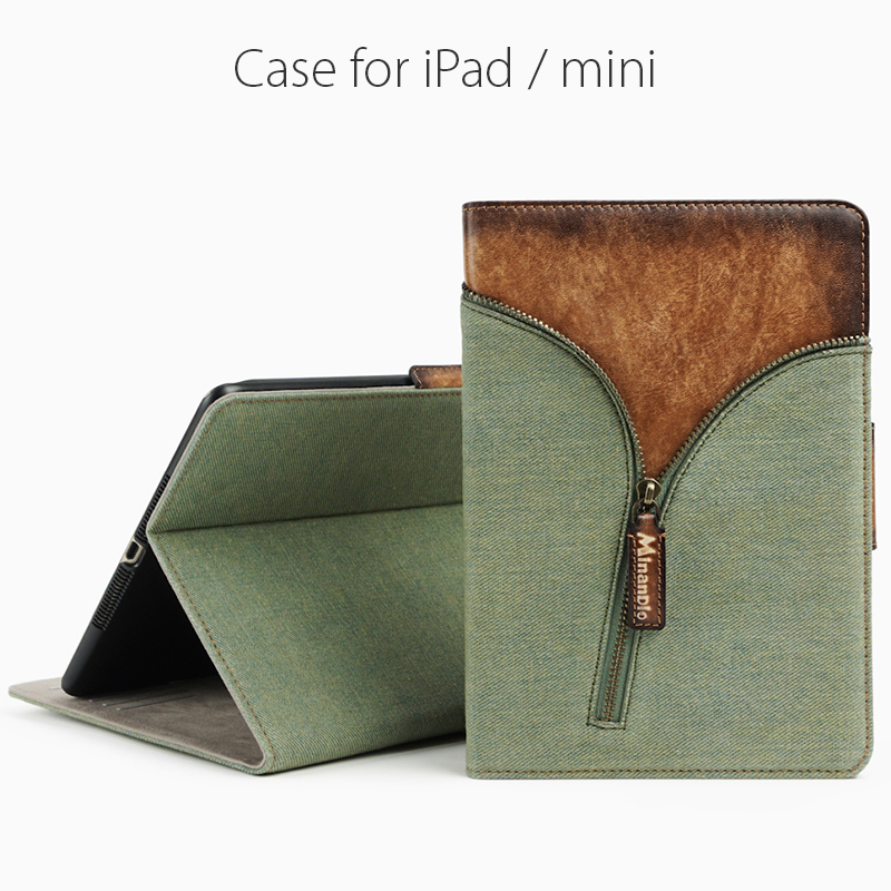 Denim jeans style flip cover case for ipad air/Customized tablet case/ stand function tablet