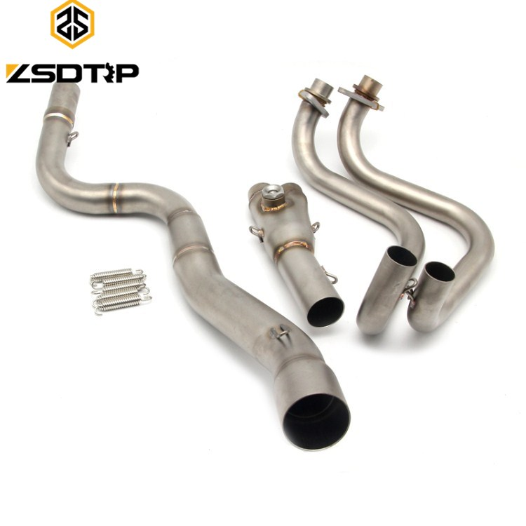 wholesale motorcycle middle <strong>exhaust</strong> pipe for Z250/NINJIA250 muffler pipe <strong>exhaust</strong> <strong>system</strong>