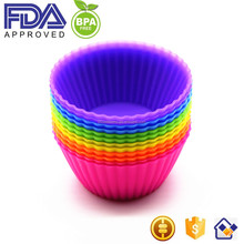 New Premium Reusable 24-Pack Silicone Baking Cup, Non Stick Silicone Cupcake Cups, Cupcake Liners