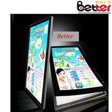 Better led backlit picture frame lights led poster magentic board for advertising