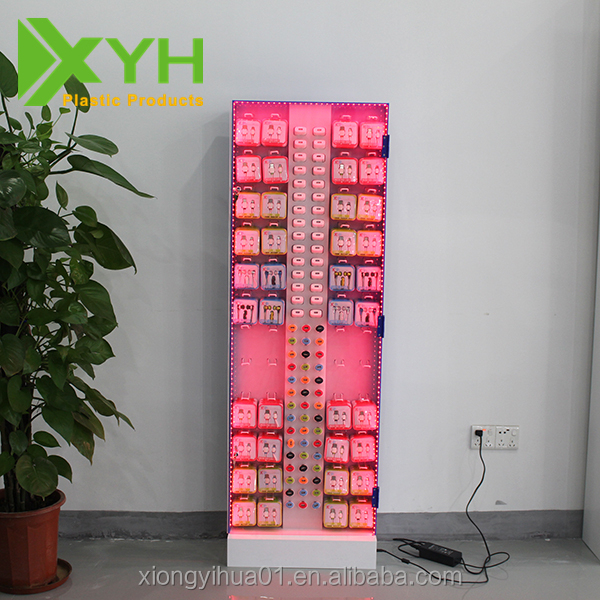 Acrylic Material Cell Phone /Mobile Phone Accessories Display Rack /Stand /Shelf With LED Light