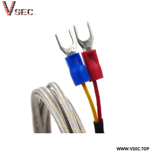 China Alibaba Factory Low Price Stainless Steel Braid 2-wire RTD PT1000 Temperature Sensors for Car