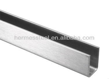 316 stainless steel U channel for glass clamping