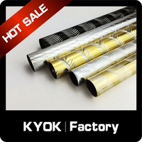 KYOK new design gold color curtain poles,metal aluminum curtain poles wholesale