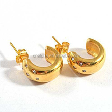 Wholesale costume jewelry, gold earring models, 18k gold color indian big hoop earrings RE27