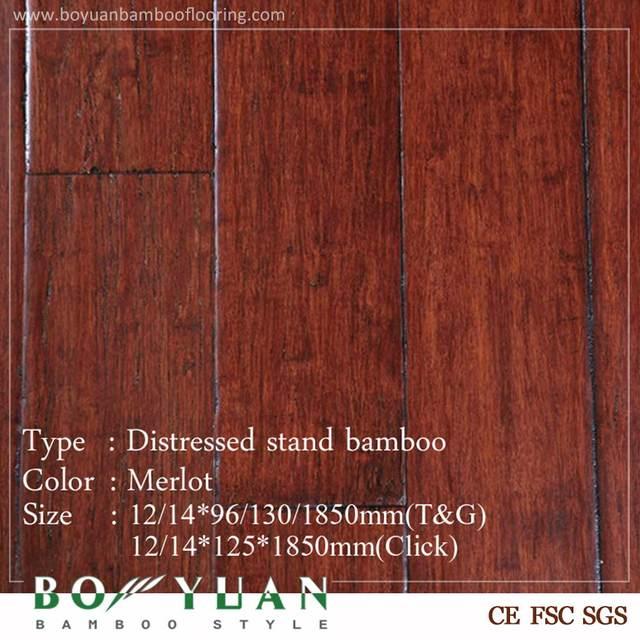 Brand BOYUAN Cheap price custom customized click chestnut bamboo flooring