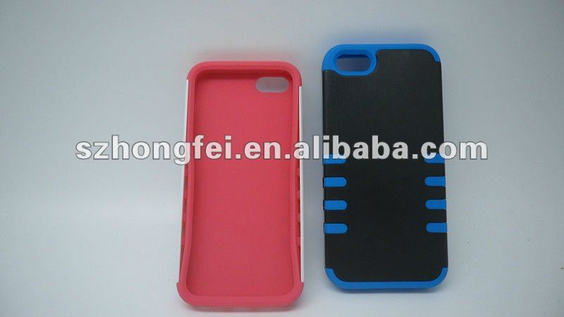 2013 newest hot selling cell phone covers for iphone 5 ,shock resistant,good hand felling silicone