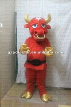 hot sale ox costumes for theme party NO.2327 red cattle gold horn