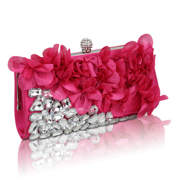 2017 Popular lady clutch bag fashion flower party bags women evening bags