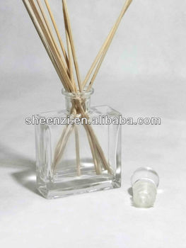 Stock 100ml rectangle reed diffuser glass bottle with reed stick/aroma fragrance diffuser glass bottle manufacturer/Glass bottle
