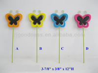 CHIC COLORFUL WOODEN GARDEN BUTTERFLY PLANT STAKE BLACKBOARD LABELS