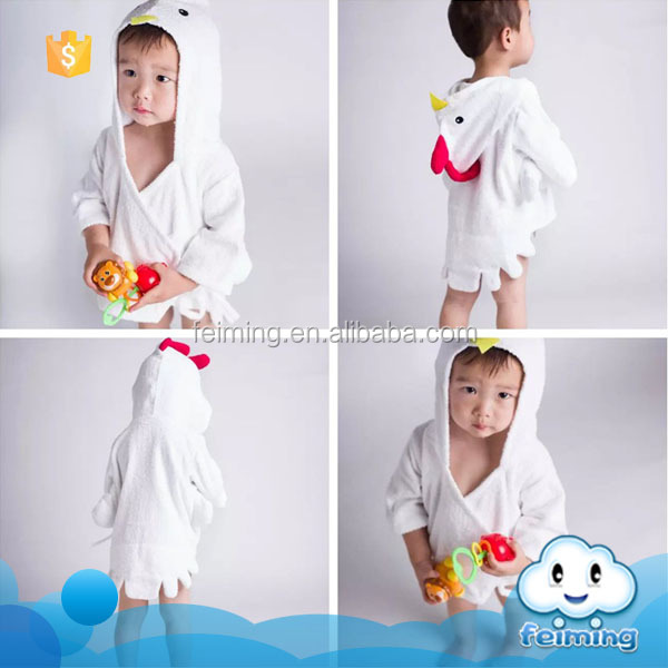 China supplier baby bathrobes clothes wholesale kids spa robes night dress