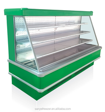 Hot Sell Multiply shelf air curtain vegetable drink refrigerator made from China manufacturer