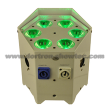 wireless battery led uplights 6x12W RGBWA+UV 6in1