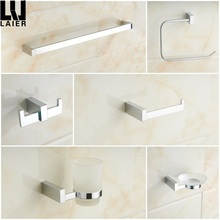 18324 bathroom accessories set wall mounted nickel towel rack holder bathroom fittings single towel bar