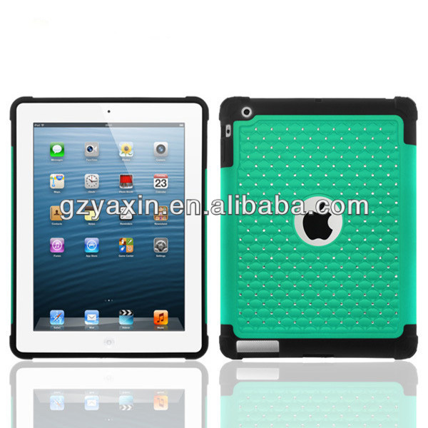 Hot sale bling diamond case cover for apple ipad 2
