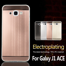 Hot selling design Electroplating tpu case for samsung galaxy j1 ace case