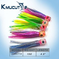 Tuna trolling skirts lures 4.5inch 15g Marlin big game lures new design trolling lures