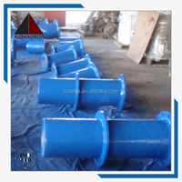 EN545 IS02531 ductile iron flanged spigot puddle cement lined pipe K9