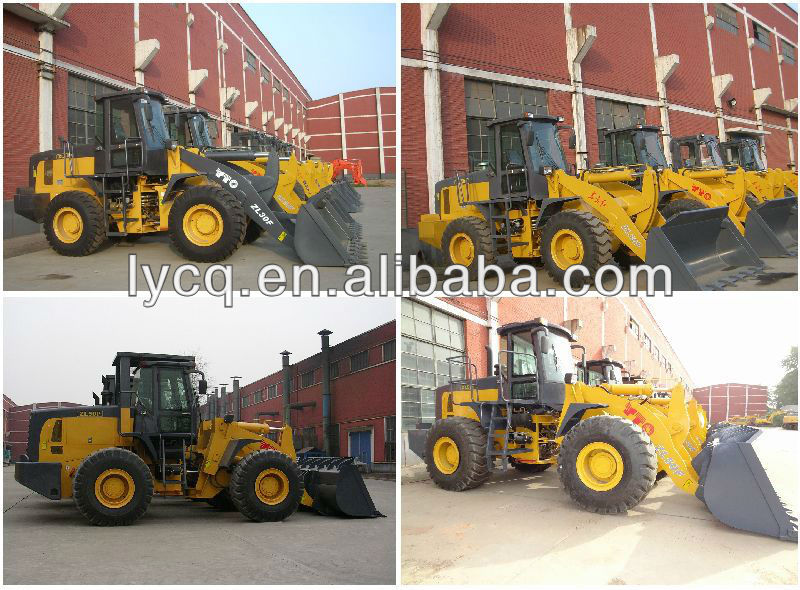 Hot sale SINOMACH 5 ton ZL50F with 3 cube large bucket capacity wheel loader