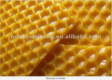Supply 100% beeswax beeswax foundation sheet