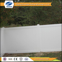 white plastic vinyl recycled privacy fence