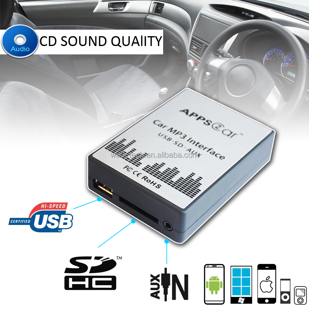 world tech car audio aux usb interface for bmw,car mp3 interface with usb sd aux for bmw e39 mini rover