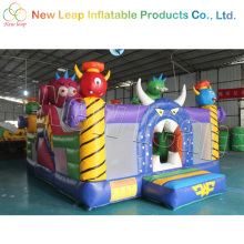 small inflatable city slide indoor jumping castle slide pvc inflatable bounce house for kids