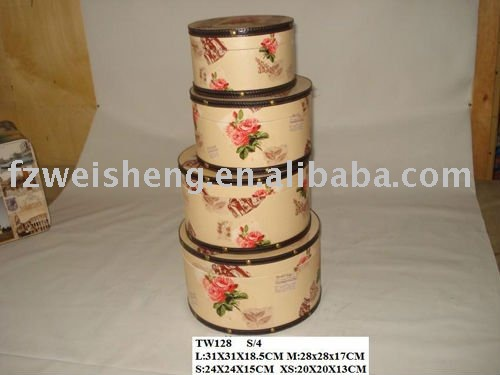 Set of 4 round gift box