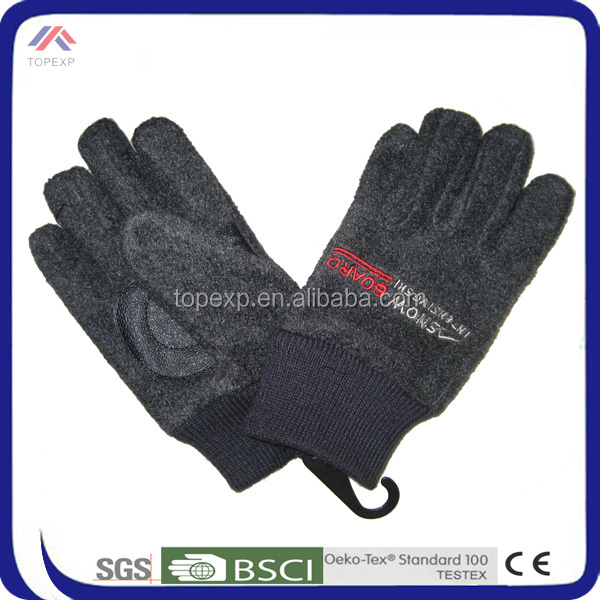 personalized winter custom embroidered polar fleece gloves